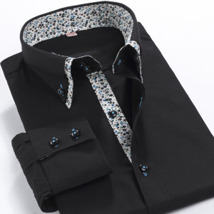 2016-New-Spring-Mens-Dress-Shirts-Double-Collar-with-Floral-Print-Long-Sleeve-Slim-Social-Business