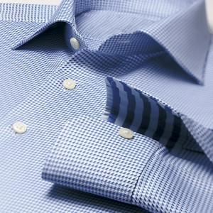 рубашка в синюю клетку